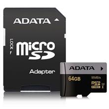 ADATA Premier Pro UHS-I U3 Class 10 95MBps microSDHC 64GB With Adapter